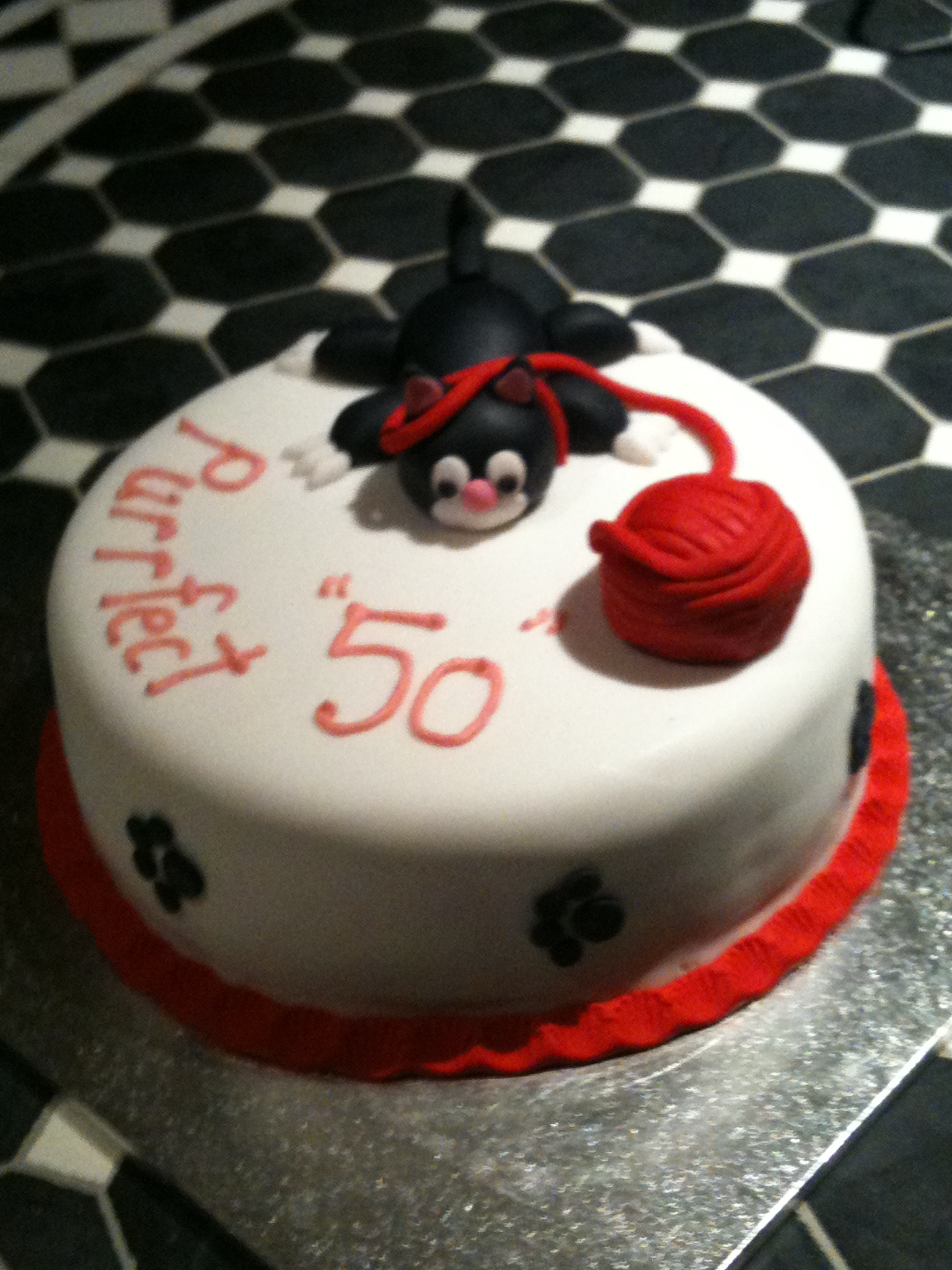 Happy 50th Birthday Denise Cats Theme Gjs Cakes